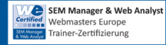 SEM Manager & Web Analyst - Trainer Zertifikat